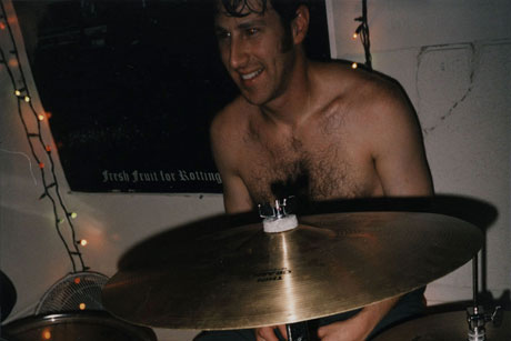 photo of Brian J. Sherman at the drumset
